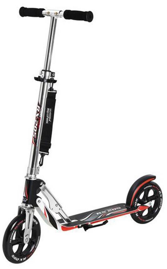 hudora big wheel city scooter kids black silver red at. Black Bedroom Furniture Sets. Home Design Ideas